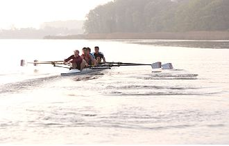 Coxless four - A Washington College crew in a coxless four.