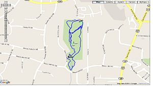 North Druid Hills, Georgia - WD Thompson Park Trail Map
