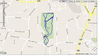 North Druid Hills, Georgia - WD Thompson Park Trail Map