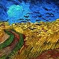 WLANL - Techdiva 1.0 - Korenveld met kraaien (detail), Vincent van Gogh (1890).jpg