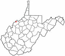 Location of North Hills, West Virginia