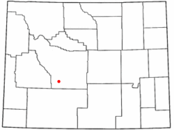 Location of Atlantic City, Wyoming