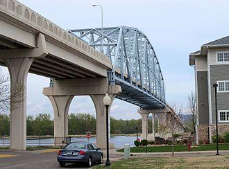Wabasha, Minnesota - Wabasha Bridge over the Mississippi River