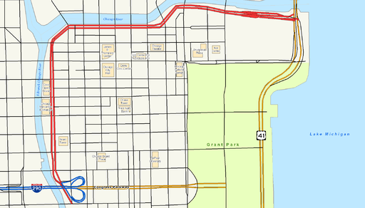 Wacker Drive map