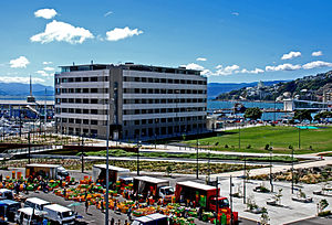 Edmund Anscombe - Anscombe's Post and Telegraph Building next to Waitangi Park in Wellington