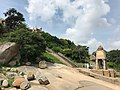 Walkway to Jainism pilgrimage site at Vindhyagiri Shravanabelagola Karnataka.jpg