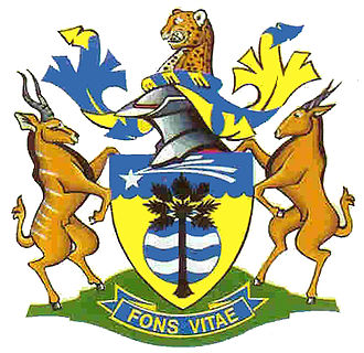 Common eland - Coat of arms of Grootfontein, Namibia.