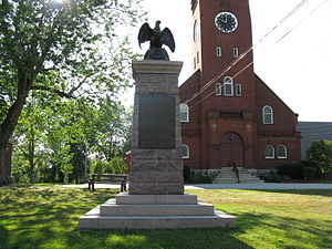Dudley, Massachusetts - War Monument by renowned sculptor John A. Wilson, Dudley, Massachusetts