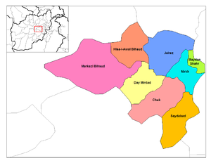 Districts of Wardak.