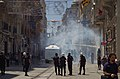 Water Cannon ^ Tear Gas used on İstiklâl Caddesi near Taksim Square - Gezi Park, İstanbul - Flickr - Alan Hilditch.jpg