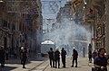 Water Cannon ^ Tear Gas used on İstiklâl Caddesi near Taksim Square - Gezi Park, İstanbul - Flickr - Alan Hilditch.jpg