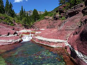 Red Rock Canyon i Waterton nationalpark