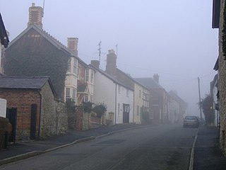 Leintwardine farm village in the United Kingdom