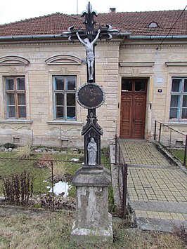 Wayside cross in Nová Ves, Třebíč District.JPG