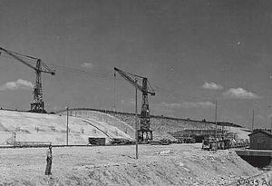 Weingut I - The construction site as it was found by US forces in May 1945