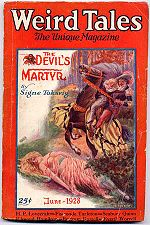 Weird Tales cover image for June 1928