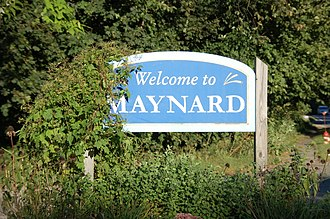 "Maynard, Massachusetts - ""Welcome to Maynard"" sign"