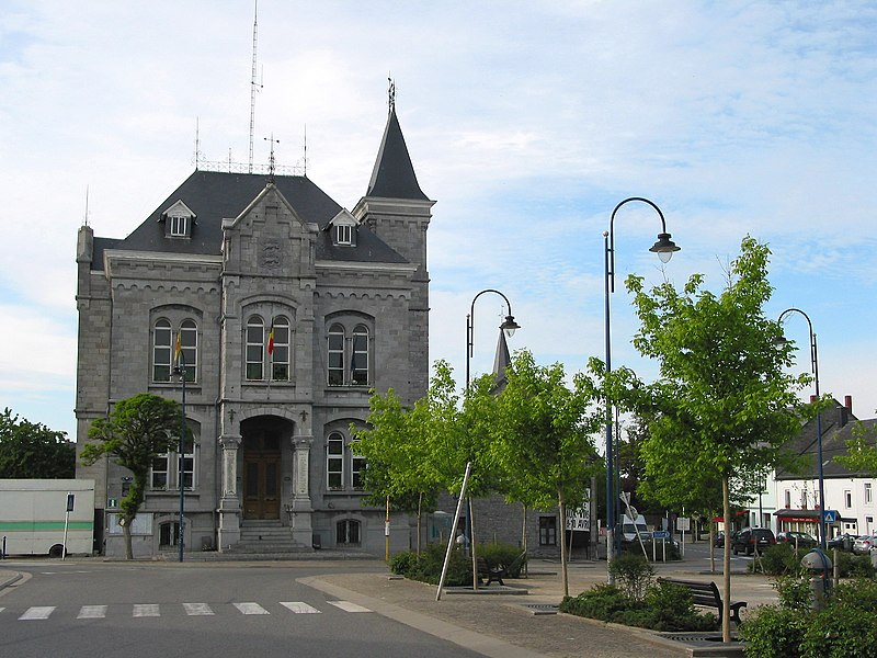 Wellin (Belgium), the town hall (19th century).
