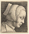 Wenceslas Hollar - Young woman with bonnet (State 1).jpg