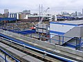 West Ferry DLR station view E14 with crossrail construction site, feb 2010.jpg