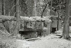 Type 10 Limes programme bunker seen from the back