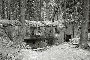 Siegfried Line - Type 10 Limes programme bunker seen from the back.