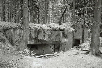 Siegfried Line - Type 10 Limes programme bunker seen from the back