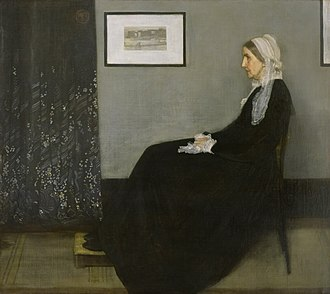 Visual art of the United States - James McNeill Whistler, Arrangement in Grey and Black: The Artist's Mother, 1871, popularly known as Whistler's Mother, Musée d'Orsay, Paris