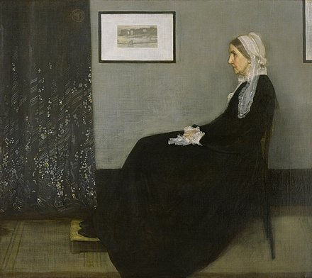 Arrangement in Grey and Black No.1 (1871), popularly known as Whistler's Mother, Musee d'Orsay, Paris Whistlers Mother high res.jpg