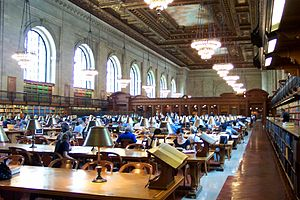 New York Public Library. a room sorrounded by ...