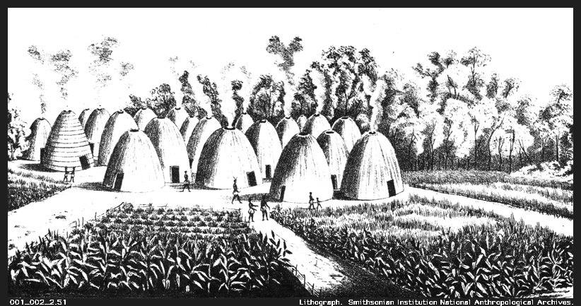 Wichita Indian village 1850-1875