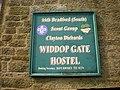 Widdop Gate Hostel, Sign - geograph.org.uk - 1360889.jpg