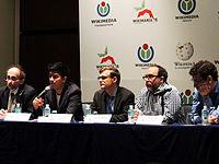 Wikimanía 2015 - Day 2 - Press Conference - LMM - México D.F. (6).jpg