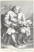 William Hogarth's engraving of the Jacobite Lord Lovat prior to his execution