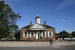 Courthouse (Colonial Williamsburg) - The courthouse in Colonial Williamsburg