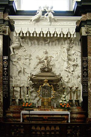 Saint Casimir - Casimir's silver sarcophagus at the Chapel of Saint Casimir, Vilnius Cathedral