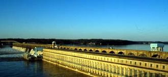 North Alabama - Wilson Dam is a part of the Tennessee Valley Authority's valuable impact on the North Alabama economy.