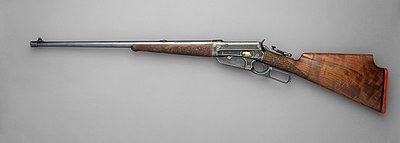 Winchester Model 1895 Takedown Rifle (serial no. 81851), custom built 1913, left side.jpg
