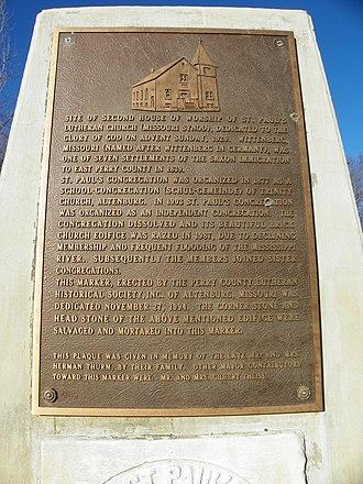 Wittenberg, Missouri - Image: Wittenberg, Missouri, marker 2