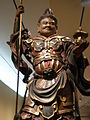 Wooden Bishamonten statue detail 1 Asian Art Museum SF.JPG