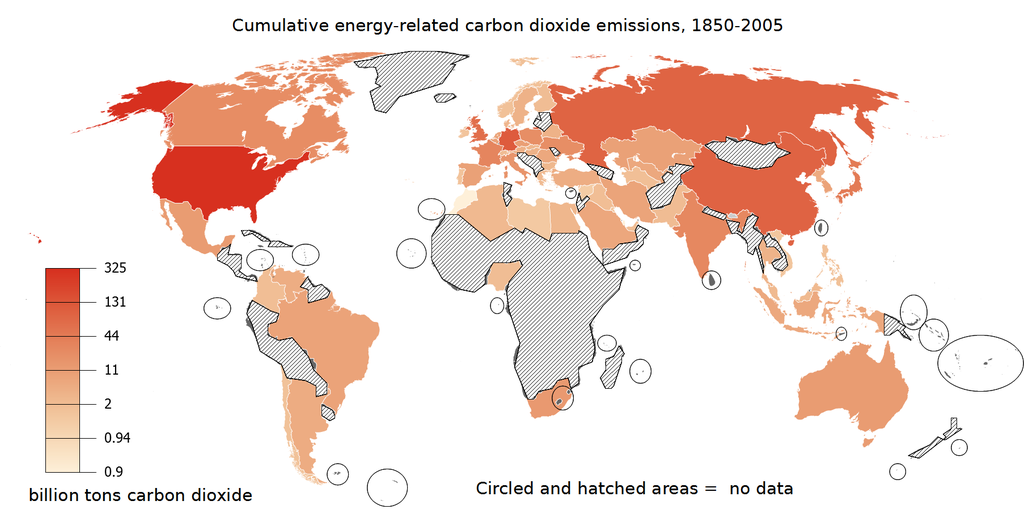 Fileworld map of cumulative energy related carbon dioxide emissions fileworld map of cumulative energy related carbon dioxide emissions 1850 2005 the darker the color the larger the emissionsg gumiabroncs Choice Image