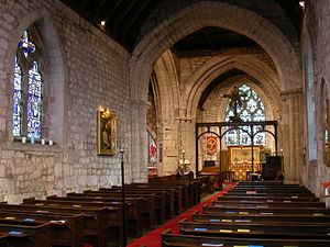 Wrockwardine - Interior view of St Peter's Church, Wrockwardine.