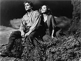 Laurence Olivier en Merle Oberon in Wuthering Heights