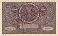 Wzór 1000 mkp sierpień 1919 typ II rewers.jpg
