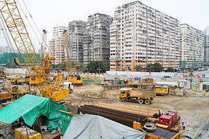 West Kowloon Station - View of the construction site