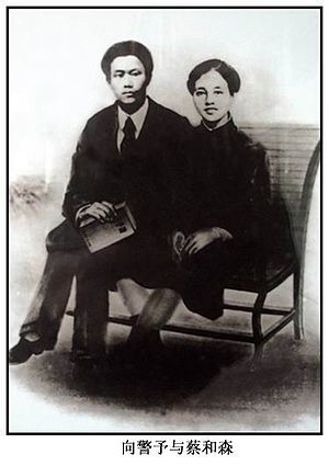 Cai Hesen - Cai Hesen and wife Xiang Jingyu