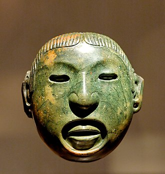 Aztecs - A mask associated with the rituals of the Aztec god Xipe Totec