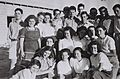 YITZHAK NAVON (TOP ROW CENTER WITH GLASSES), TEACHER AT THE BEIT HAKEREM SECONDARY SCHOOL IN JERUSALEM WITH A GROUP OF HIS PUPILS AT A SUMMER WORK CAMD679-117.jpg