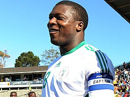 Yakubu as captain of Nigeria in 2008 YakubuNigeria 1182582.jpg