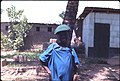 Young neighbor dressed up to celebrate his secret society intiation, Kabala, Sierra Leone (West Africa) (464615085).jpg